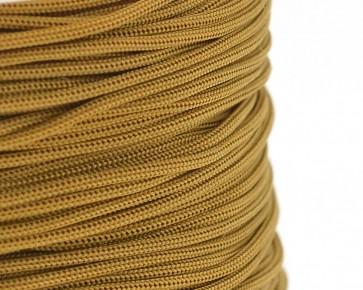 Polyesterkordel, Polyestergarn für Makramee, 0.8mm geflochten, goldbraun, ca.120m