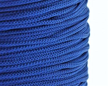 Polyesterkordel, Polyestergarn für Makramee, 0.8mm geflochten, royalblau, ca.120m
