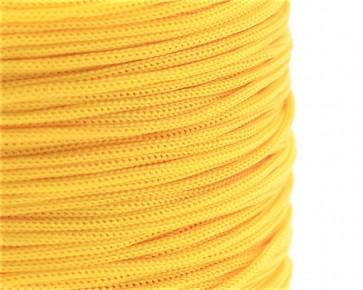 Polyesterkordel, Polyestergarn für Makramee, 0.8mm geflochten, gelb, ca.120m