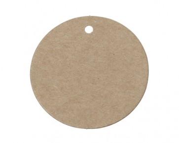 Papieranhänger, Geschenkanhänger, Etiketten, rund, braun, Ø 5 cm, 25 Stk.