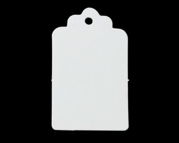 Papieranhänger, Geschenkanhänger, Etiketten, weiss, rechteckig 5 x 3 cm, 50 Stk.