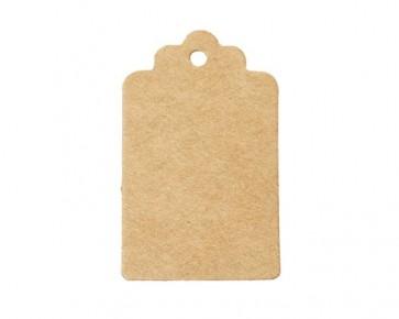 Papieranhänger, Geschenkanhänger, Etiketten, braun, rechteckig 5 x 3 cm, 50 Stk.