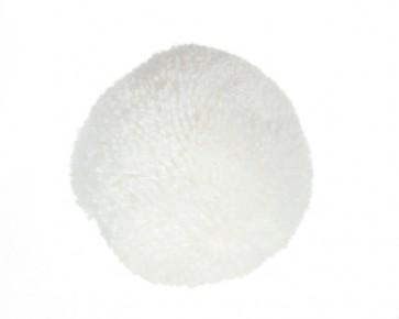 Flauschige Pompons, Ø 10mm, weiss, 50 Stk.