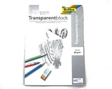 folia Transparentpapier-Block, DIN A4, 80 g/m², 25 Blatt