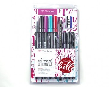 Tombow Lettering-Set 'advanced' mit Anleitung, 10er Set