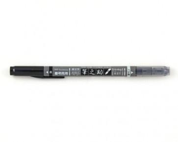 Tombow Kalligraphie-Stift Fudenosuke Twin Brush Pen, schwarz/grau