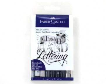 Faber-Castell Tuschestift PITT artist pens, Starter Set Hand Lettering, 9er Etui