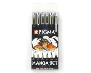 Sakura PIGMA Manga Toolset, schwarz, 6er Set