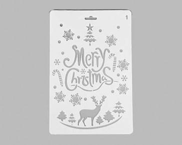 Weihnachts-Schablonen 'Merry Christmas' Schriftzug, 26x17.5cm