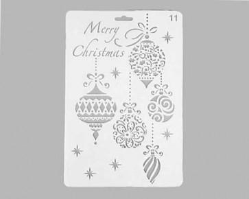 Weihnachts-Schablonen 'Merry Christmas' Weihnachtskugeln, 26x17.5cm