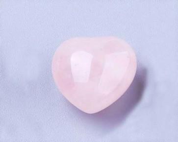 Rosenquarz Edelstein Herz, rosa, 15mm