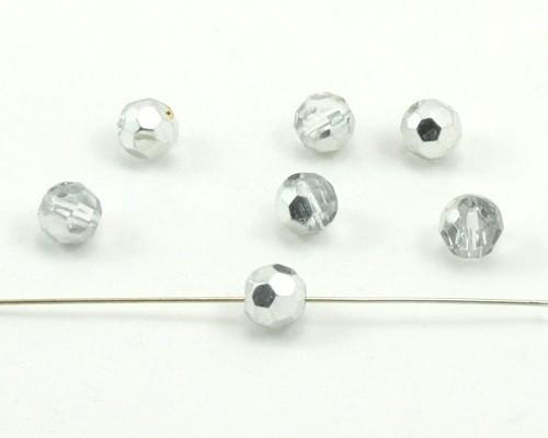 10 Stück 10mm rund schwarz Glasschliffperle
