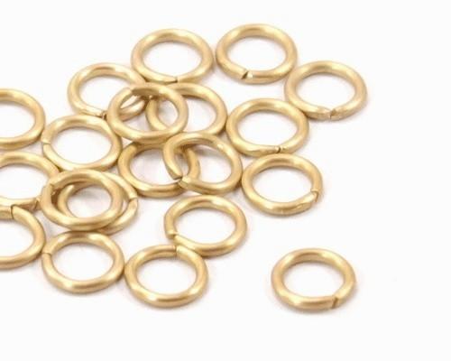 50 Biegeringe goldfarben ca 6mm