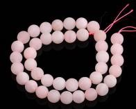 Gefrostete Rosenquarz Perlen, rund, matt rosa, ø 8mm, 1 Strang