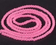 Gefrostete Glasperlen, 6mm, rund, hot pink mattiert, 50 Stk.