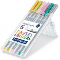 Staedtler triplus Fineliner 'Handlettering Set', Pastell-Farben, 6er Box