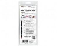 Tombow Dual Brush Pens ABT, Doppelfasermaler Pastell, 6er Set