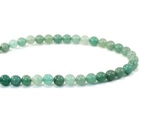 Grüner Aventurin, Edelstein-Perlen, rund, 8 mm, 1 Perlenstrang