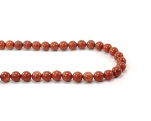 Roter Jaspis, Edelsteinperlen, rund, 6 mm, 1 Perlenstrang