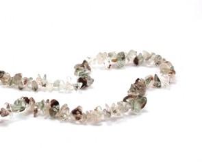 Prehnit, Edelstein-Splitter, Naturstein Chips, 5-10 mm, 1 Perlenstrang
