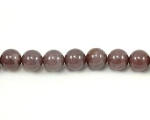 Edelsteinperlen, Violette Aventurin Perlen, rund, 10 mm, 1 Strang