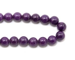 Mashan Jade Perlen, Edelsteinperlen, rund, violett, 10mm, 1 Jadestrang