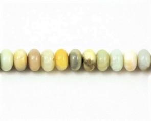 Amazonit Perlen, Rondellen, mehrfarbig, 8x5mm, 1 Strang