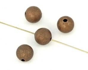Metallperlen, 6 mm, rund, antik kupferfarbig, 20 Perlen