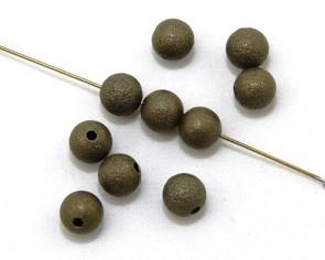 Metallperlen, 8 mm, rund, antik bronzefarbig, 10 Perlen