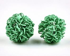 Drahtperlen, Wickelperlen, ø 16mm, rund, smaragdgrün, 5 Stk.