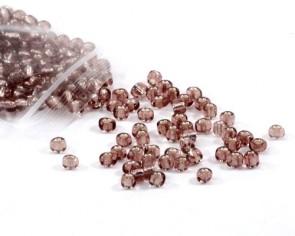 Rocailles Perlen, Saatperlen, 4 mm, Silbereinzug, amethyst violett, 20g