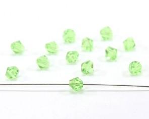Glasschliffperlen, facettierte Glasperlen, 6mm, Bicone, peridot grün, 20 Perlen