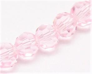 Crystal Glasschliffperlen, ø 10 mm, rund, rosa, 10 Stk.