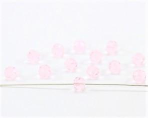 Crystal Glasschliffperlen, 6 mm, rund, rosa, 20 Stk.