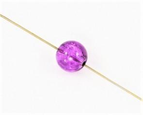 Crackle Crash Glasperlen, 8mm, rund, violett, 50 Perlen
