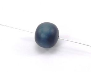 Harzperlen im Stil von Polaris Perlen, rund, dunkelblau, 17-18 mm, 5 Perlen