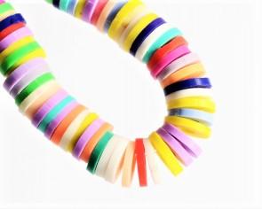 Katsuki Perlen, 4 x 1 mm, Rondellen, bunter Farbmix, 1 Strang