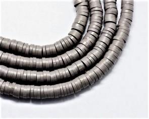 Katsuki Perlen, 4mm, Rondellen, dunkelgrau, 1 Strang