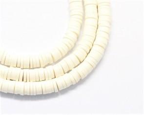 Katsuki Perlen, 4mm, Rondellen, creme-weiss, 1 Strang