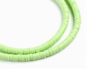 Katsuki Perlen, 4mm, Rondellen, hellgrün, 1 Strang