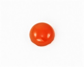 Edelstein-Cabochons, Karneol, rund, orange-rot, 10 mm, 2 Stk.