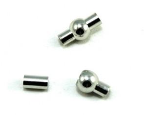 Magnetverschluss zum Kleben, platinfarbig, rund, ø4mm, 17x8.5mm