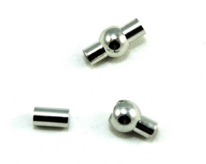 Magnetverschluss zum Kleben, platinfarbig, rund, ø 5mm, 17x9mm