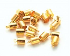 Endkappen mit Öse, goldfarbig, 9.5x6mm, 5.5mm innen, 20 Endteile