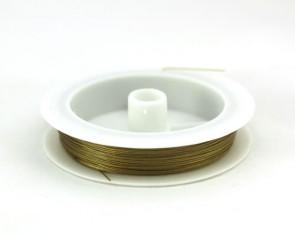 Schmuckdraht, Edelstahldraht, Tigertail, gold, 0.45mm, XL-Spule