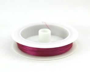 Schmuckdraht, Edelstahldraht, Tigertail, pink, 0.45mm, XL-Spule