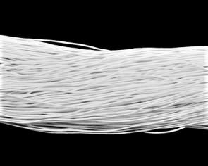 Elastikband, Elastikschnur, Gummikordel, weiss, 1mm