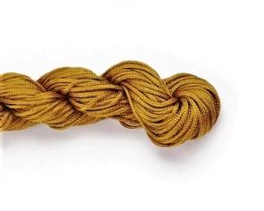 Macramee Nylonschnur, Nylonfaden, Nylonkordel 1mm geflochten, goldbraun