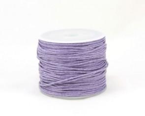 Gewachste Baumwollkordeln, Schmuckkordeln, Wachsbänder, 1 mm, lila violett, 25 Meter