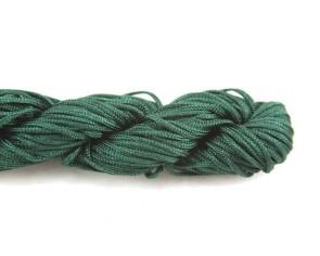 Nylonschnur, Makramee Garn, Nylonkordeln 1mm geflochten, dunkelgrün, 24m
